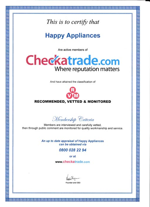 happyappliances checkatrade